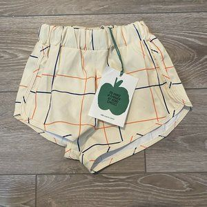 Bobo Choses Cream Line Swim Shorts Size 12-18